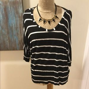 Splendid stripe Dolman top shirt lightweight